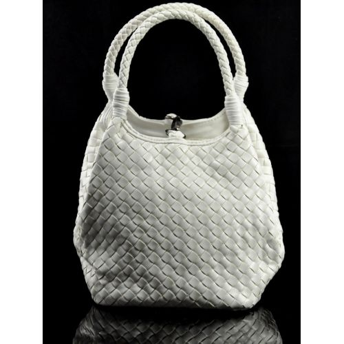 Женская сумка Bottega Veneta Cestino Mini белая