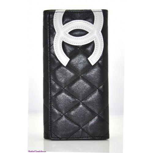 Женский кошелек C №1 черный с белым