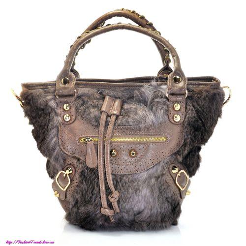 Женская сумка Balenciaga Raccoon бежевая