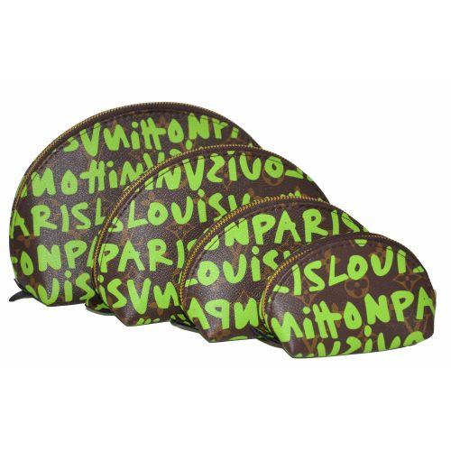Набор косметичек Louis Vuitton графити лайм