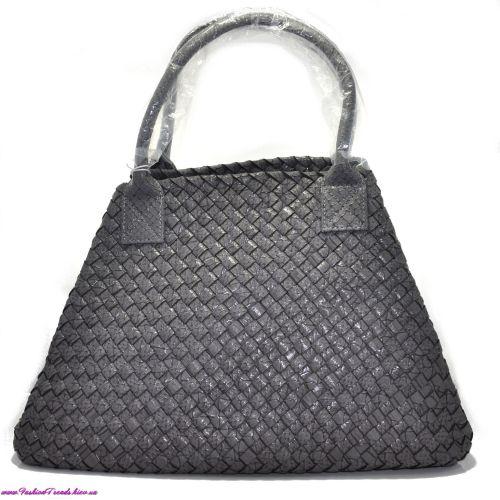 Женская сумка Bottega Veneta Cabat серая питон