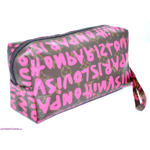 Косметичка LV куб розовый графити