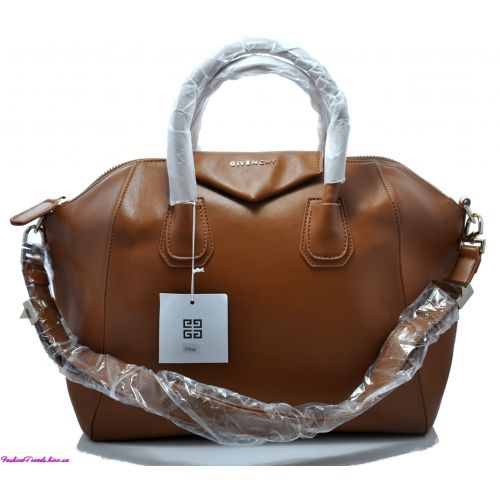 Женская сумка Givenchy Small Antigona Denso рыжая