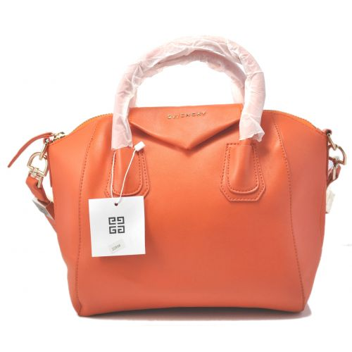 Женская сумка Givenchy Small Antigona Denso оранжевая