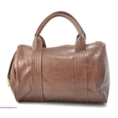 Женская сумка Alexander Wang Rocco Duffel бордовая