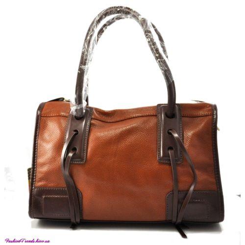 Женская сумка Corners кожаная рыжая