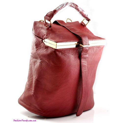 Женская сумка Alexander Wang Willow бордовая