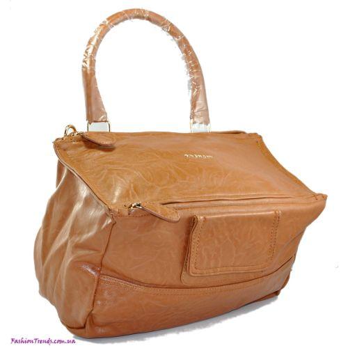 Женская сумка Givenchy Pandora рыжая