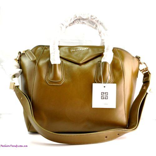 Женская сумка Givenchy Small Antigona Denso оливковая