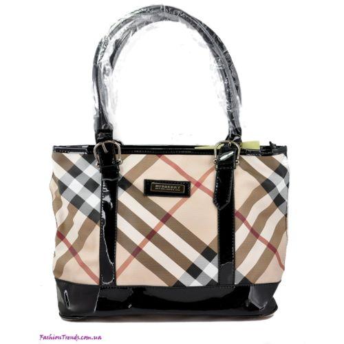 Женская сумка Burberry Check New черная