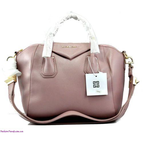 Женская сумка Givenchy Small Antigona Denso розовая