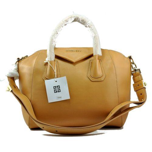 Женская сумка Givenchy Small Antigona Denso темно-бежевая