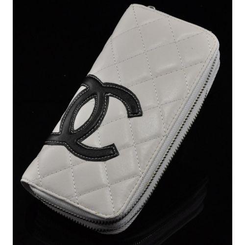 Женский кошелек C №2 белый с черным