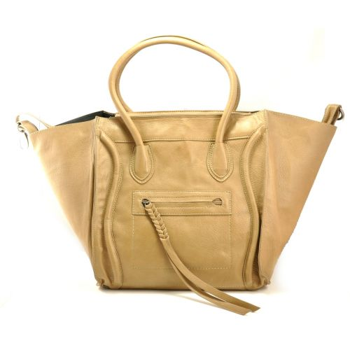 Женская сумка Celine Boston Maxi бежевая