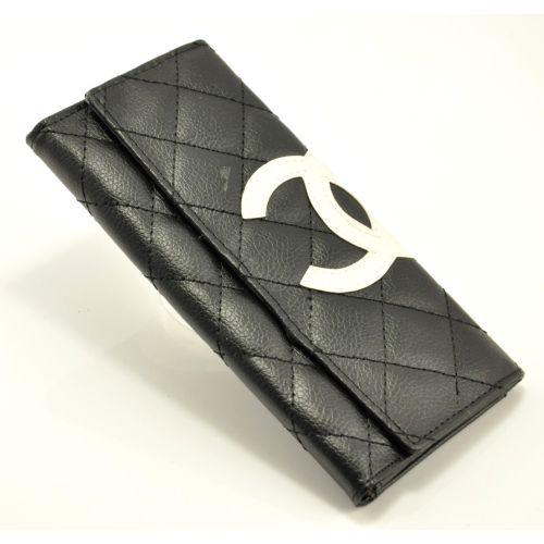 Женский кошелек C №3 черный с белым
