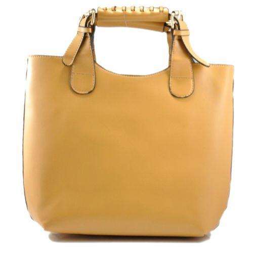 Женская сумка Zara Shopper бежевая