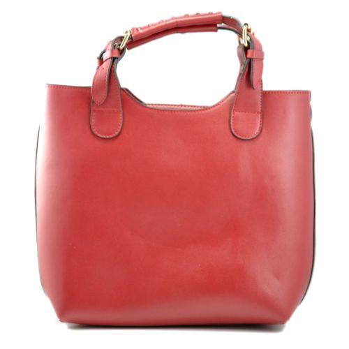 Женская сумка Zara Shopper кожаная вишневая