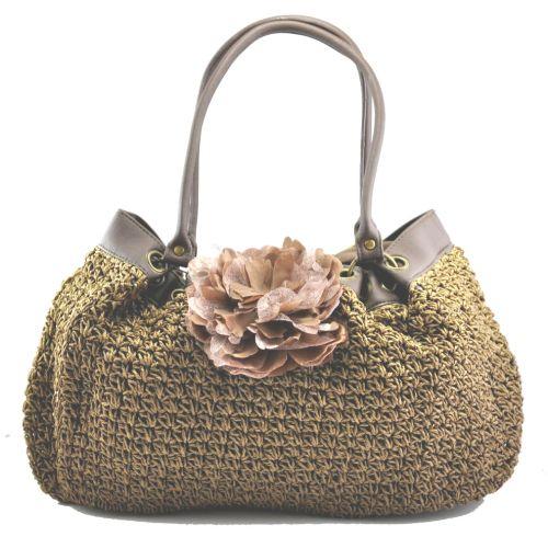 Женская сумка hand-made коричневая мешок