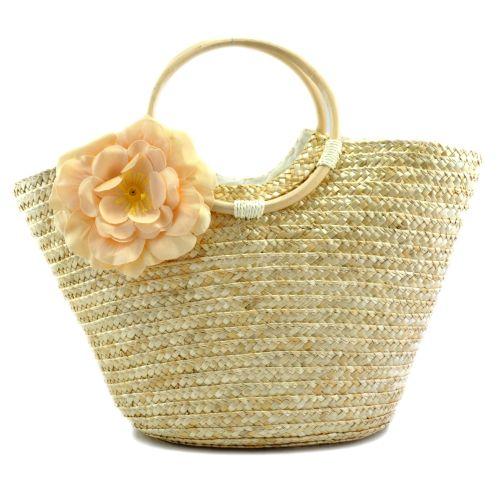 Женская сумка hand-made бежевая с чайной розой