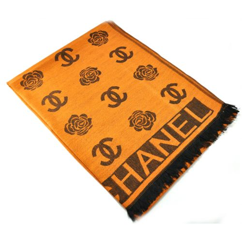 Шарф Chanel оранжевый
