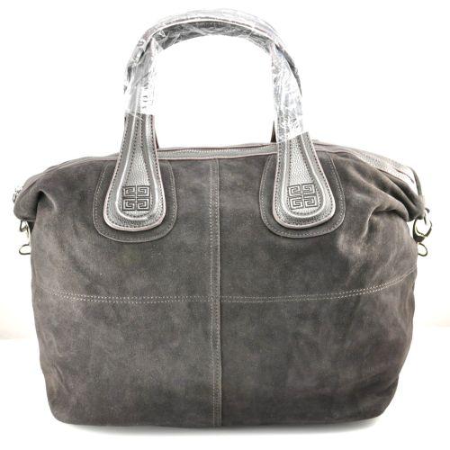 Женская сумка Givenchy Nightingale замшевая коричневая