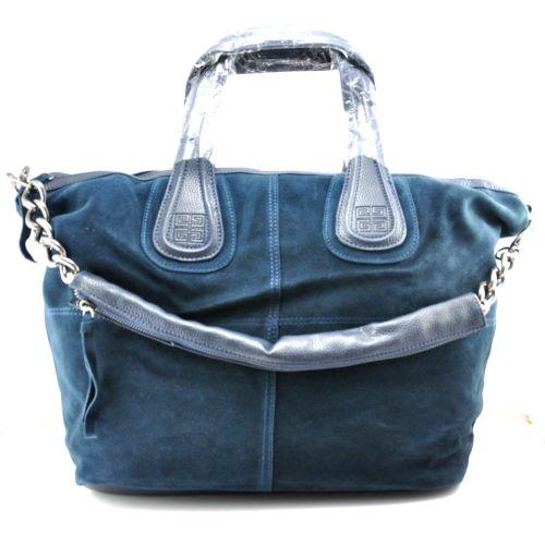 Женская сумка Givenchy Nightingale замшевая синяя