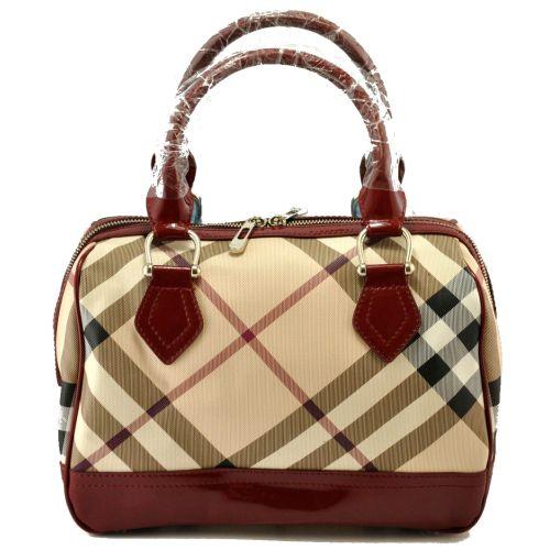 Женская сумка Burberry Kitbag бордовая