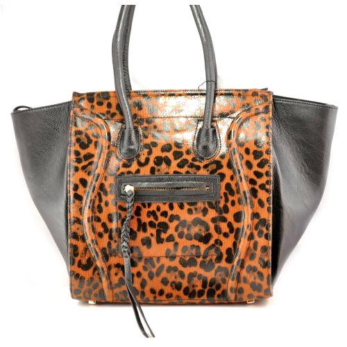 Женская сумка Celine Boston Maxi леопардовая