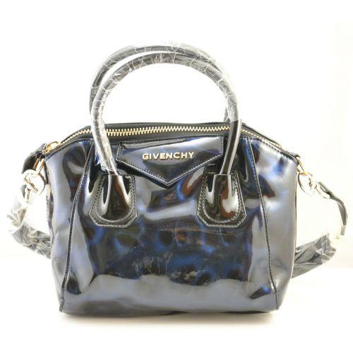 Женская сумка Givenchy Small Antigona Denso синяя с переливом