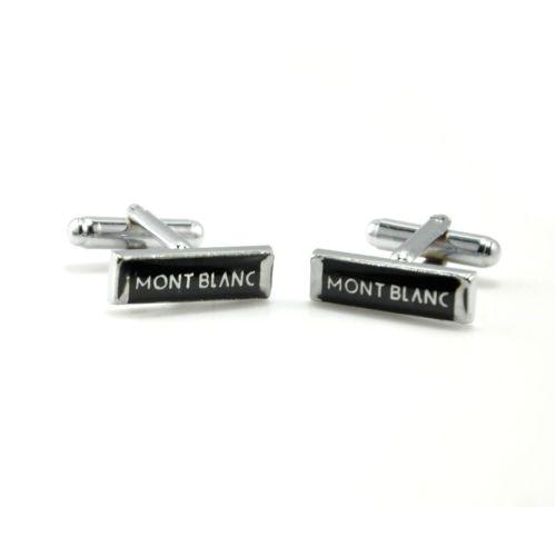 Запонки Mont Blanc прямоугольник черный