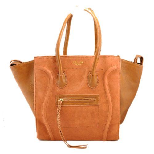 Женская сумка Celine Boston Maxi рыжая