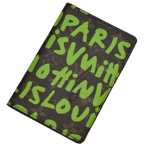 Обложка для паспорта Louis Vuitton зеленая