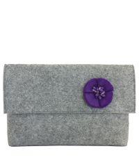 Клатч Valex с фиолетовым цветочком