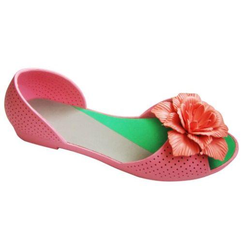 Розовые балетки с розовым цветочком