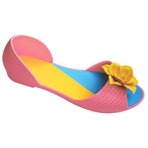 Розовые балетки с желтым цветочком
