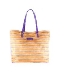 Плетеная пляжная сумка Valex фиолетовая