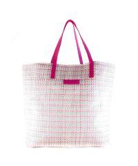 Плетеная пляжная сумка Valex розовая