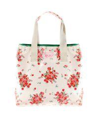 Пляжная сумка Valex розовая клетка с цветами