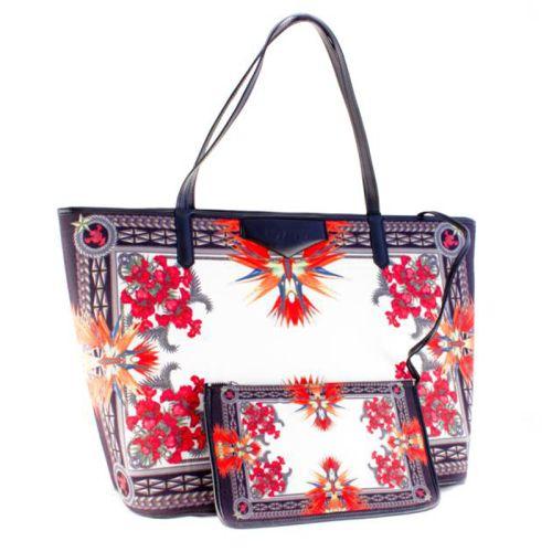 Белая сумка Valex абстракция оранжевая
