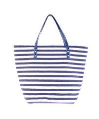 Пляжная сумка Valex бело-синяя полоска