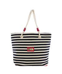 Пляжная сумка Valex черно-белая полоска