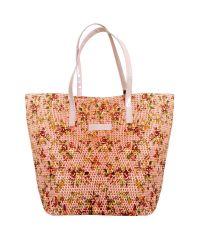 Плетеная пляжная сумка Valex корзинка розовая