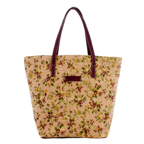 Плетеная пляжная сумка Valex корзинка коричневая