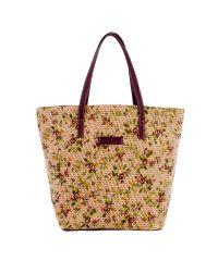Плетеная пляжная сумка Valex корзинка фиолетовая