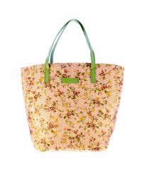 Плетеная пляжная сумка Valex корзинка зеленая