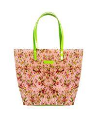 Плетеная пляжная сумка Valex корзинка салатовая