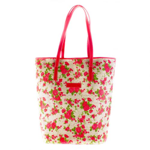Плетеная пляжная сумка Valex корзинка красная