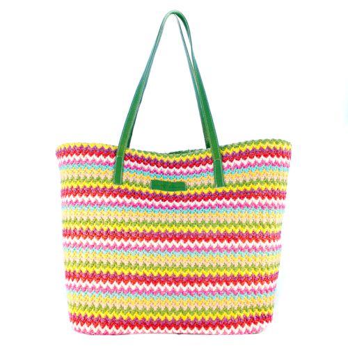 Плетеная пляжная сумка Valex ЗигЗаг зеленая