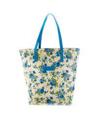 Плетеная пляжная сумка Valex корзинка синяя