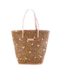 Плетеная пляжная сумка Valex корзинка светло-розовая